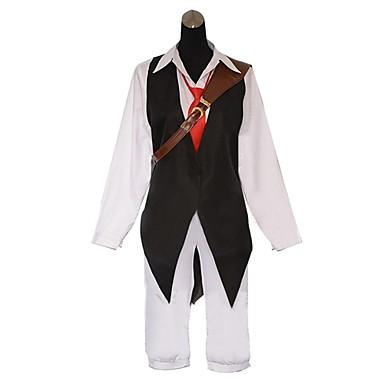 Inspirerad av De sju dödssynderna Cosplay Animé Cosplay-kostymer Japanska cosplay Suits Lappverk Långärmad Väst / Skjorta / Byxor Till Herr
