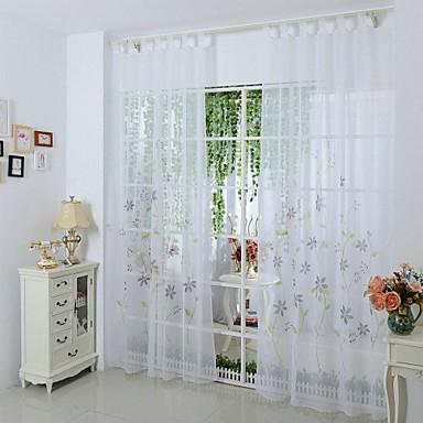 nye sheer vindue gardin stue soveværelse mode boligmontering paneler ...