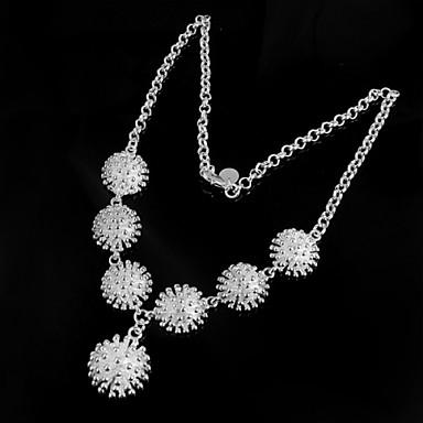 povoljno Modne ogrlice-Vintage Zabava Posao Ležerne prilike Plastika Srebrna Pink Ogrlice Jewelry 1pc Za