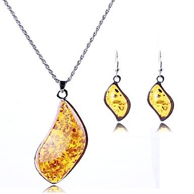 dammode oregelbunden hängande smycken set (inklusive halsband örhängen)
