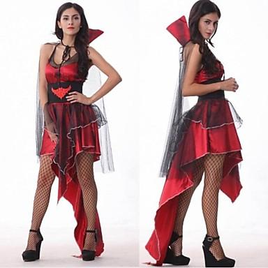 Vampyr Cosplay Kostymer / Dräkter Dam Halloween Karnival Nyår Festival / högtid Polyester Dam Karnival Kostymer