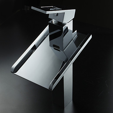 Lightinthrbox Sprinkle Sink Faucets Countertop Chrome Waterfall