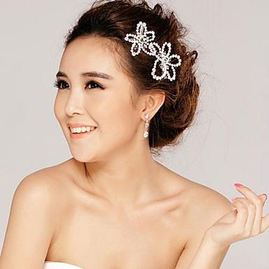 Pietre Coreene De Flori De Argint Ornamente Pentru Coafuri De Nunta