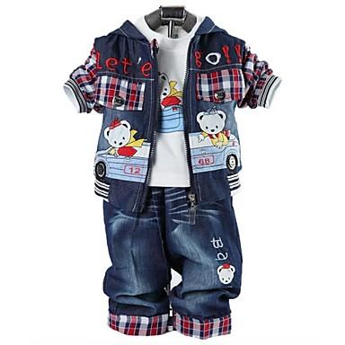 gyermek ruházat fiúk három darab állítja baba beállított fiú farmer ruha  medve póló és kabát nadrág 2584305 2019 –  46.87 ca75e2779d