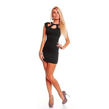 σέξι κούφια έξω το λαιμό πίσω φερμουάρ BODYCON club φόρεμα των γυναικών  2659102 2019 –  17.48 4bc06e1c436