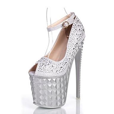 83fc6e0bbe4 Γυναικεία παπούτσια - Πέδιλα - Φόρεμα / Πάρτι & Βραδινή Έξοδος - Τακούνι  Στιλέτο - Με Τακούνι / Peep Toe - Γκλίτερ - Μαύρο / Ασημί 2591216 2019 –  $47.99