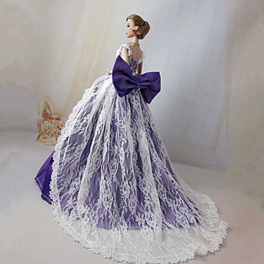 levne Doplňky pro panenky-Šaty pro panenky Pro Barbie Pevná barva Polyester Šaty Pro Dívka je Doll Toy