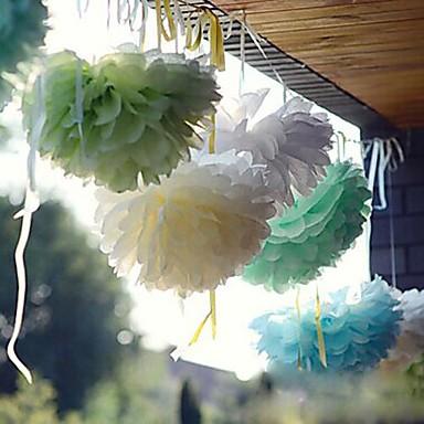 Silkespappersinredning Pärlpapper / Blandat Material Bröllop Dekorationer Bröllopsfest Strand Tema / Trädgårdstema / Blom-tema Vår / Sommar / Höst
