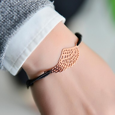 Dam Berlock Armband damer Unik design Mode Paracord Armband Smycken Silver / Brun Till Julklappar Bröllop Party Dagligen Casual Sport