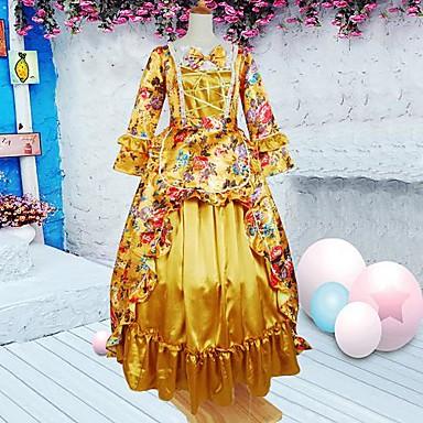 Klänningar Söt Lolita Klassisk / Traditionell Lolita lolita tillbehör Klänning Cotton Halloweenkostymer / Lång längd