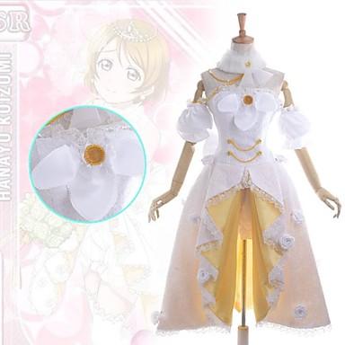 Inspirerad av Love Live Hanayo Koizumi Animé Cosplay-kostymer Japanska Klänningar Lappverk Ärmlös Klänning / Krage / Armbindel Till Dam / Satin