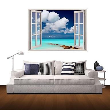 [$23.75] Natura morta Paesaggio Adesivi murali Adesivi 3D da parete Adesivi  decorativi da parete Materiale Rimovibile Decorazioni per la casa