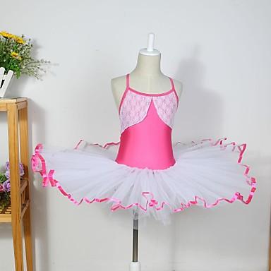 baratos Roupa e Sapatos de Dança-Roupas de Dança para Crianças / Balé Vestidos Algodão / Elastano / Tule Sem Manga
