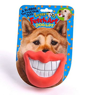 Tuggleksaker Hundleksak Husdjur Leksaker Läppar Gummi Present