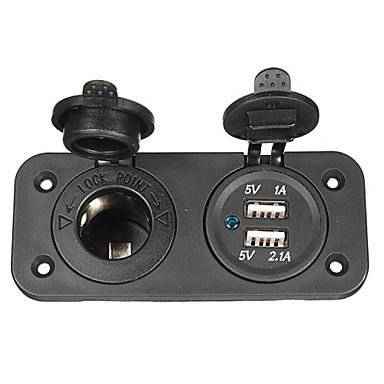 billaddare uttag 12v USB-adapter för motorcykel& bil