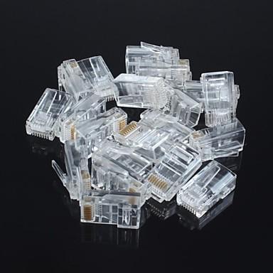 oskärmad rj45 8P8C nätverks crystal (20st)
