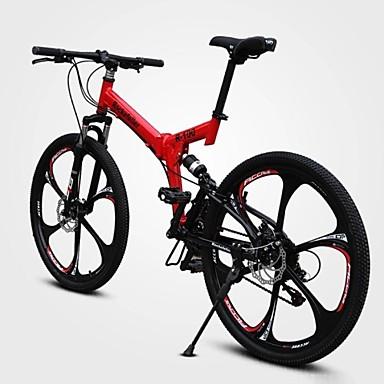 voordelige Fietsen-Mountain Bike Wielrennen 21 Speed 66.0 cm / 700CC Dubbele schijfrem Geveerde voorvork Volledige vering Normale hiili / Alumiiniseos