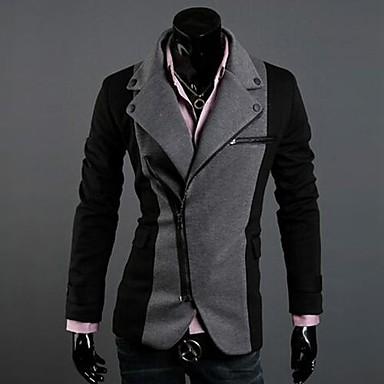 ebefebd834 férfi divat szabálytalan cipzáras kialakítás színes illő római kabát ...