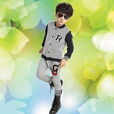 d2e8587520 Ősszel új gyermek ruházat fiúknak és lányoknak csíkos öltöny gyermekek  baseball-készletek 2549941 2019 – $44.88