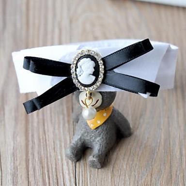 Katt Hund Knyta / Fluga Hundkläder Kostym Cotton Cosplay Bröllop söt stil XS S M L
