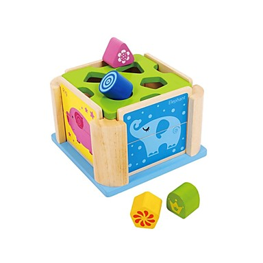 benho gummiträ mdf djur Shaped Box utbildning leksak