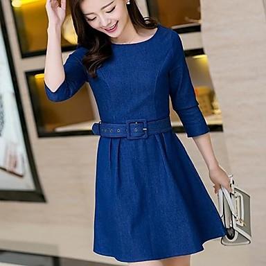 b00b0b9550d6 sanfenzise ™ μόδα κομψό φόρεμα τζιν των γυναικών 2731465 2019 –  54.98
