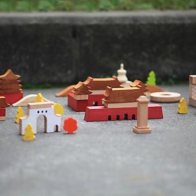 benho byggstenar bokskog intryck av beijing träleksak utbildning leksak