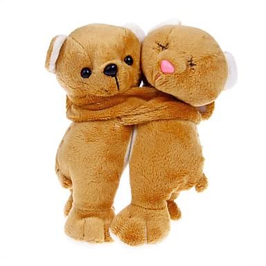 härlig björn par docka dekoration - brunt