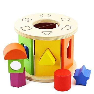 benho björk form sorteringshjul träpussel leksak