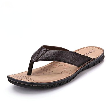9d798378f04 zapatos t-correa de las sandalias de cuero talón plano zapatos de los  hombres 2693440 2019 –  34.99