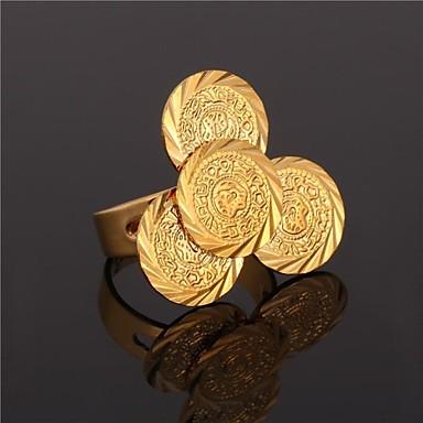 Dam Unisex Statement Ring manschetten ring 18K Guldpläterad Legering Statement damer Asiatisk Dagligen Smycken Hantverkare Gulligt Justerbar