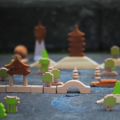 benho bokskog byggstenar intryck i Hangzhou träleksak