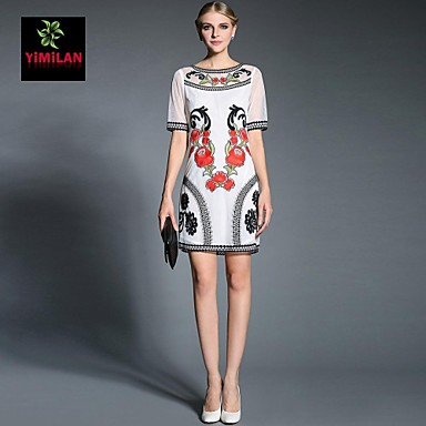 3170f5da06 yimilan® női új tavaszi-nyári 2015 divat hímzett ruha 2695535 2019 – $46.80