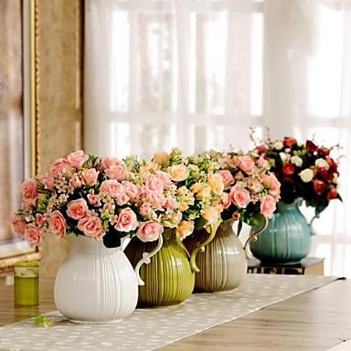 H13 flores artificiales establecer arreglos florales florero