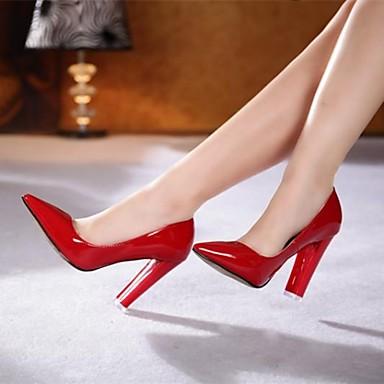 Chaussures Femme - Soirée   Evénement - Noir   Rouge - Gros Talon - Talons    Bout Pointu - Talons - Similicuir de 2720216 2019 à  49.99 6a9fcd4983ae