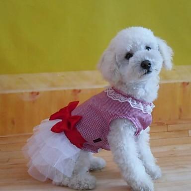 Hund Klänningar Hundkläder Cotton Kostym Till Sommar