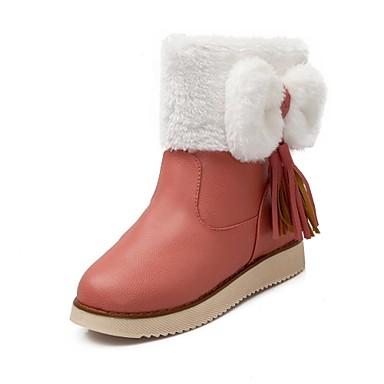 6ae4a2d9a8fd Γυναικεία παπούτσια Δερματίνη Χαμηλό Τακούνι Μπότες Χιονιού/Στρογγυλή Μύτη  Μποτάκια / Μποτάκια Μπότες Καθημερινά Μαύρο/Κόκκινο/Χακί 2708621 2019 –  $27.99