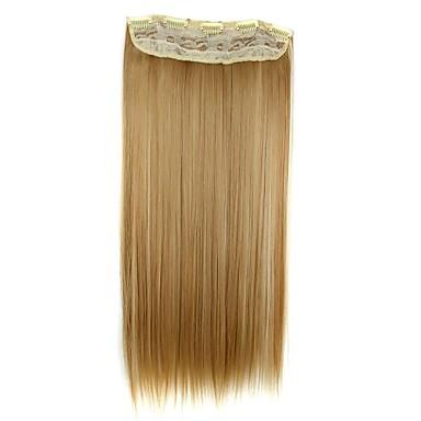 povoljno Ekstenzije za kosu-Ekstenzije od ljudske kose Ravan kroj Ugradnja umetaka Isječak U / S Plavuša Dnevno