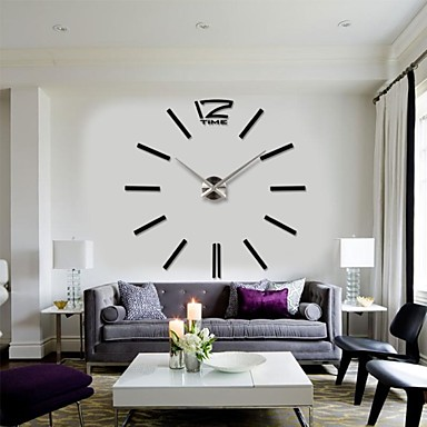 2015 New Home Decor Big Digital Wall Clock Modern Design Large Decorative Clocks Watch Cheap Contemporary