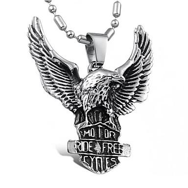 levne Pánské šperky-Pánské Náhrdelníky s přívěšky Přizpůsobeno Punk Evropský Titanová ocel Stříbrná Náhrdelníky Šperky Pro Denní Ležérní