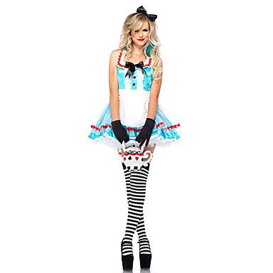 Halloween/Karnival - Sagokostymer - Dräkter/Kostymer - med Klänning/Huvudbonad/Krage - till Kvinna