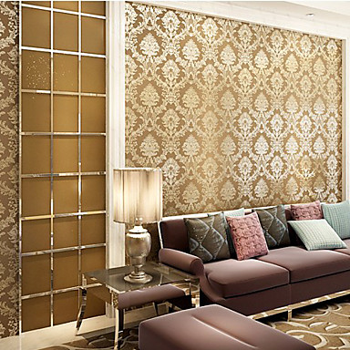 wall covering ideas contemporary wallpaper floral coffee damascus designs 29753