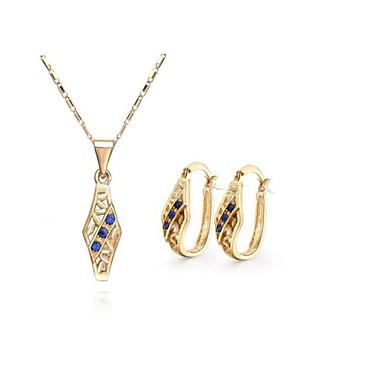 Smyckes set (Blå) - i Legering - av Damers/Dam