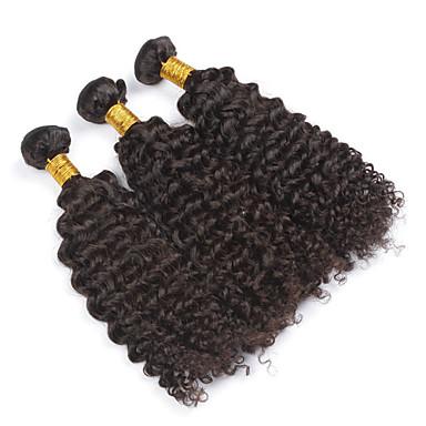 povoljno Ekstenzije od ljudske kose-PANSY potka Proširenja ljudske kose Kovrčav Kinky Curly Ljudska kosa Brazilska kosa Žene Prirodna crna / 8A