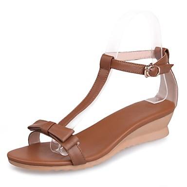 Venta Pick A Best Zapatos marrones Tacón de cuña para mujer venta barata 2018 más nuevo Venta de puntos de venta en línea 7jVzez
