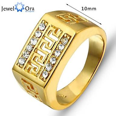 billige Motering-Herre Statement Ring tommelfingerring Gull Gullbelagt Legering damer Asiatisk Mote Fest Smykker Artisan