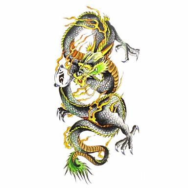 1 pcs Tatueringsklistermärken tillfälliga tatueringar Djurserier Vattentät Body art / Mönster / Ländrygg