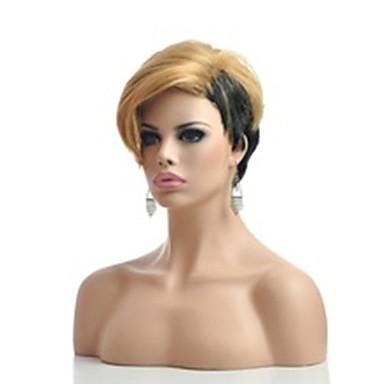 Syntetiska peruker Rak Rak Peruk Blond Korta Blond Syntetiskt hår 6 tum Dam Blond hairjoy