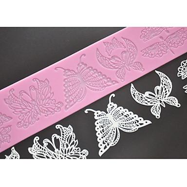 juoksukengät suorituskykyiset urheiluvaatteet yksityiskohtaisesti [$4.31] Four-C silikoni kohokuviointi matto perhonen pitsi hometta, leipoo  pad pitsi matto Sisustus työkaluja väri pinkki
