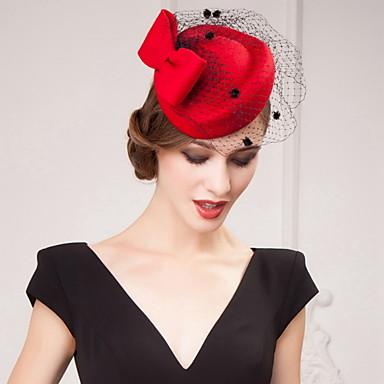 levne Klobouk na party-tylové saténové klobouky na hlavě svatební party elegantní ženský styl
